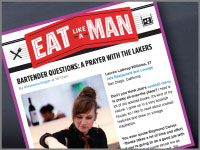 "Esquire's ""Eat Like a Man"" highlights Jsix bartender."