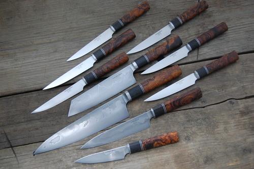 Custom Knife Set In W2 Honyaki AEB L