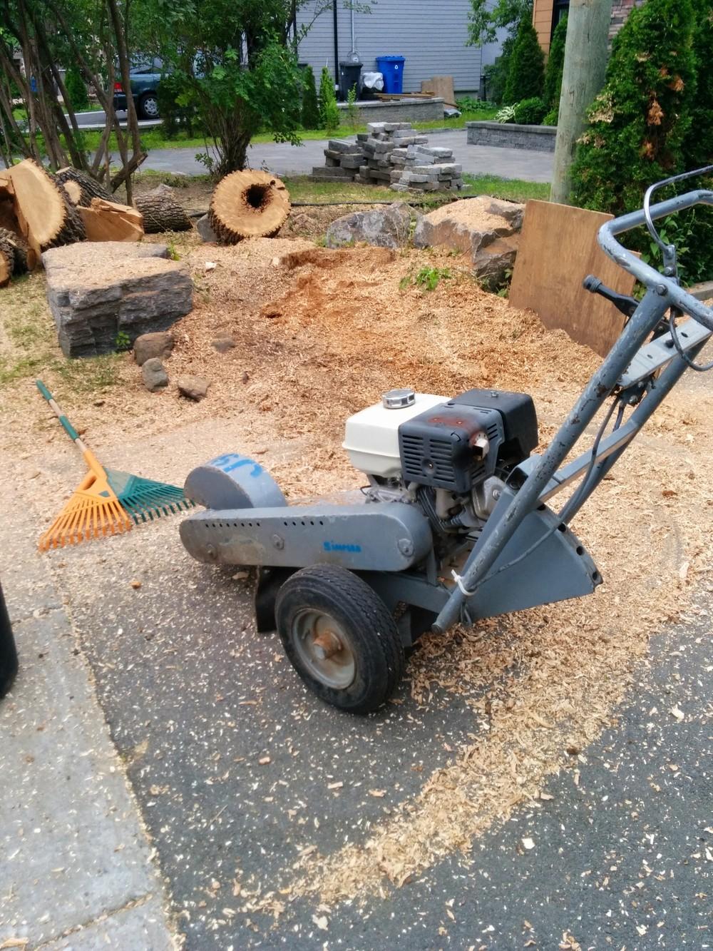 Essouchage | Inutile de creuser et de briser la chaîne de votre scie, nous avons un outil pour la cause