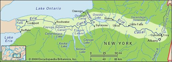 New York State. The Erie Canal. Buffalo to Albany. 340 miles. Only our muscles.