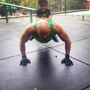 Pushups with a little added weight