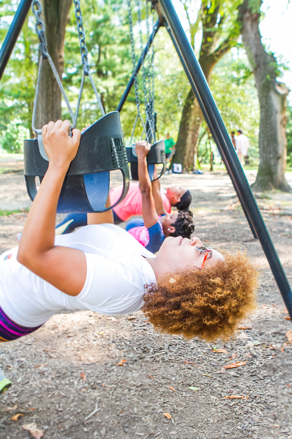 The entire playground is your gym
