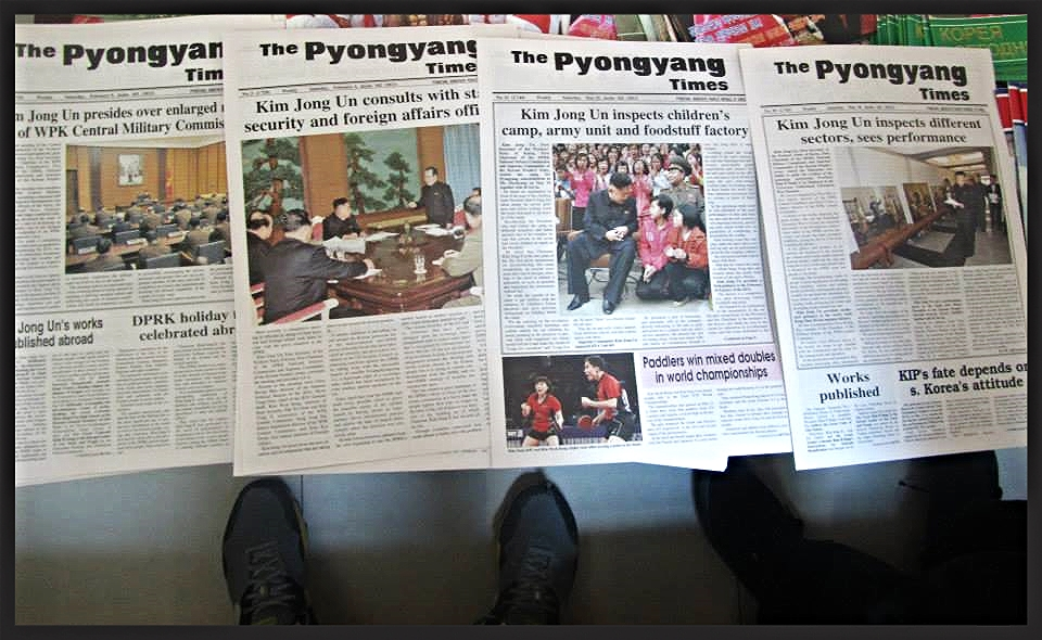 Kim Jong-Un dominating headlines in The Pyongyang Times
