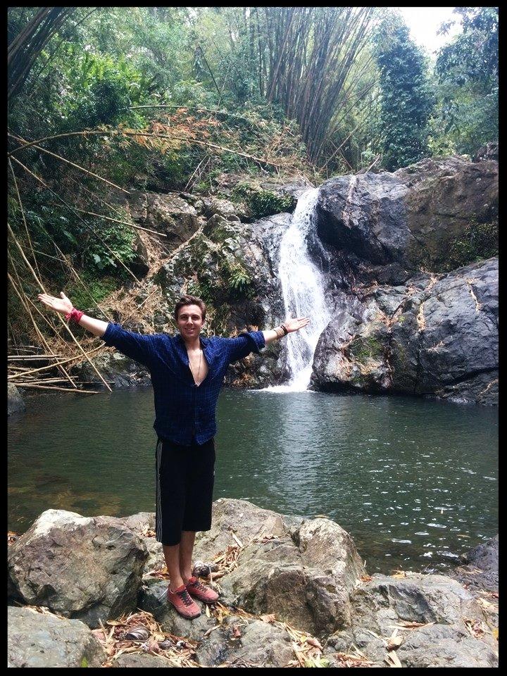 Atop Tobago's Argyle Waterfalls