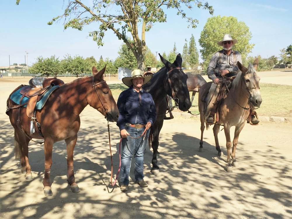 Jestine Butts and Danny Locke having a fun time at Rancho Murieta Mule Classic