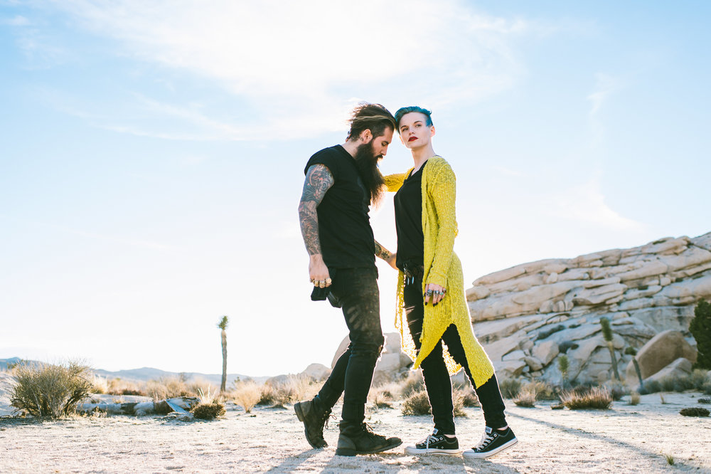 @Trig_Perez & @TheMetalRomantic in Joshua Tree