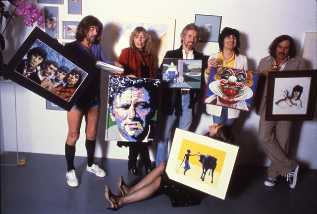 John Mayall, Joni Mitchell, Klaus Voormann, Ron Wood, Commander Cody, Deborah Chesher - L.A. Exhibit