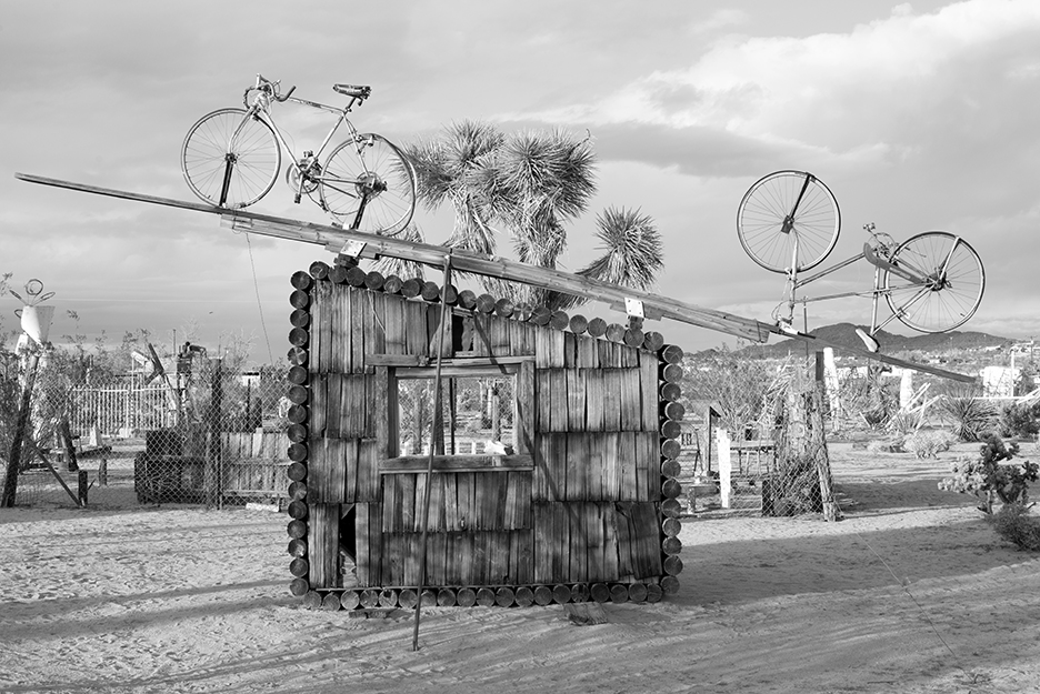Bicycles - sculpture by Noah Purifoy