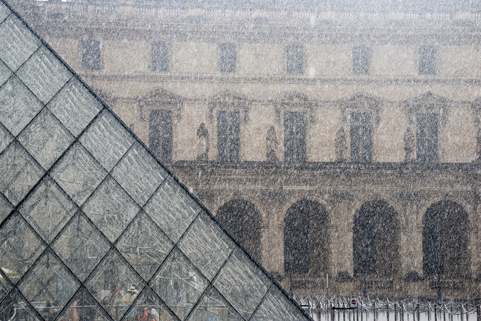 Louvre in the Rain