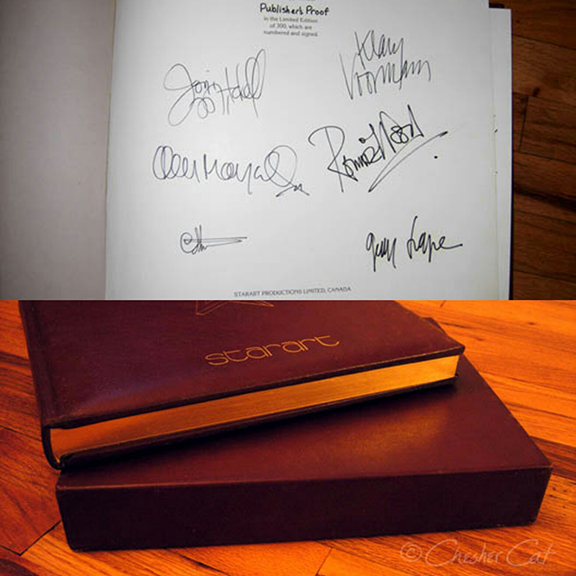 STARART - LIMITED EDITION   (Only 2 left)  Leather-bound and signed by the artists. These copies are in perfect condition and have never been removed from their individual taped cartons.