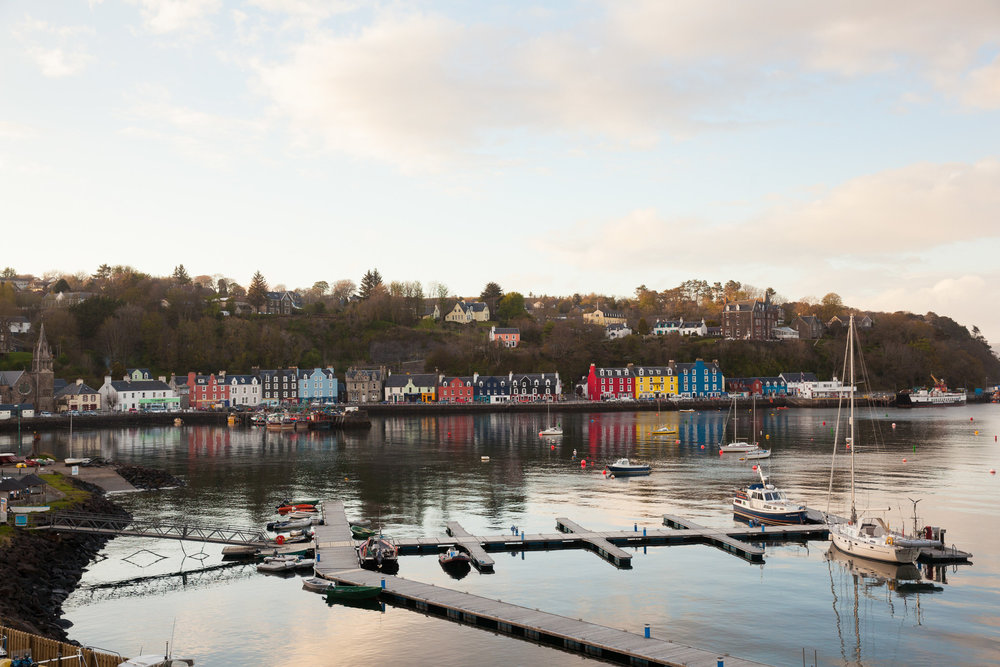 Tobermory in all its glory. Our B&B was up on the hill behind the church.
