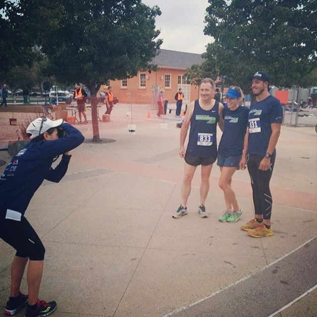 Photog Laura catching the runners from our 3 relay teams earlier this morning! Great work team!!
