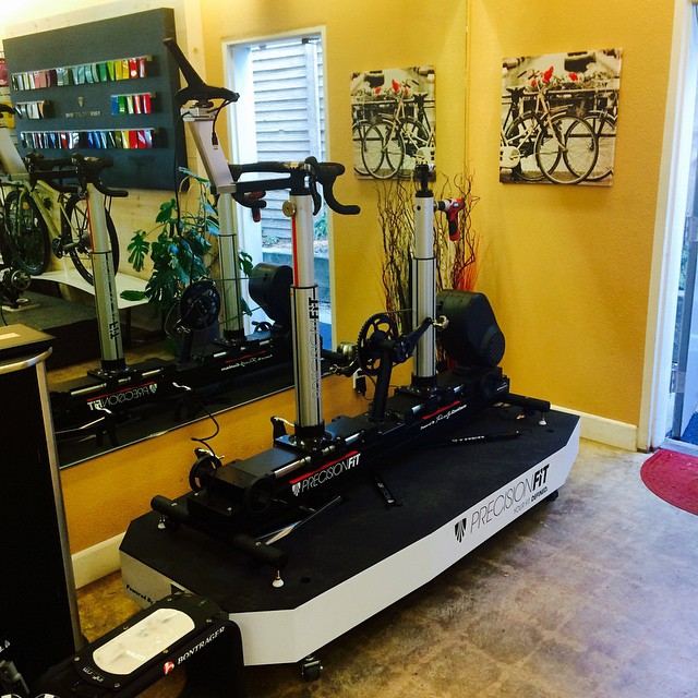 Sneak peek at Epicenter Cycling's new bike fitting system! High tech fitting for big gains out on the road! Check out @rideepicenter for a bike fit for the 2015 racing season!