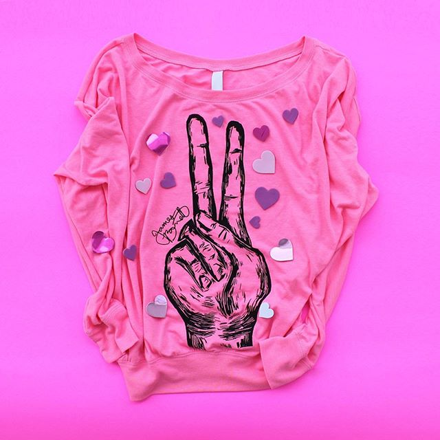 Peace Tee, will you be my Valentine?  Wishing everyone a great V Day weekend (and also to those celebrating Galentine's Day). #JAMESBARRETTCO #PeaceTee #womensfashion #winterfashion #style #streetwear #Peace #Pink #FeelGood #valentinesday #galentinesday #heart #Shop #ParksandRec #LeslieKnope #womenswear #ootd #outfitpost