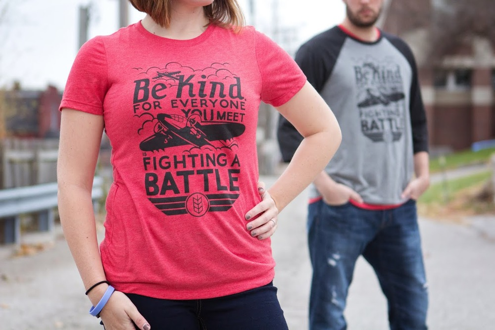 Be Kind tri-blend tee    $5.55 is donated to CCFA