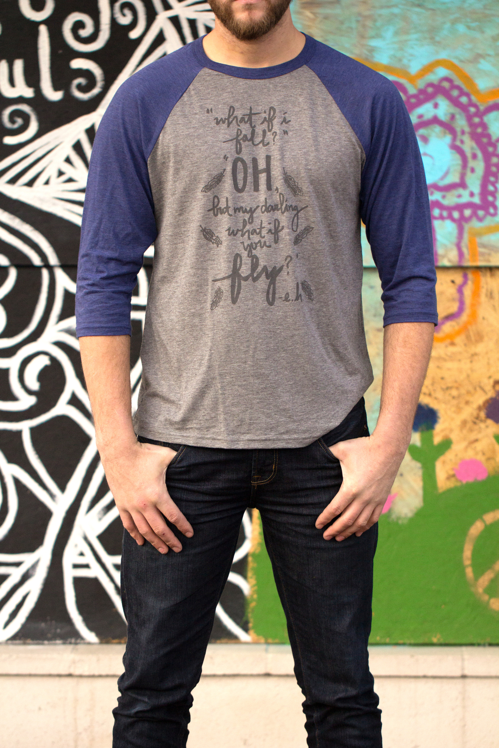 Give Hope Unisex Baseball Tee  $5.55 is donated to The Sparrow's Nest