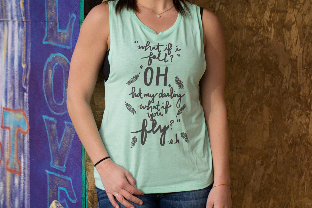 Give Hope Muscle Tank  $5.55 is donated to The Sparrow's Nest