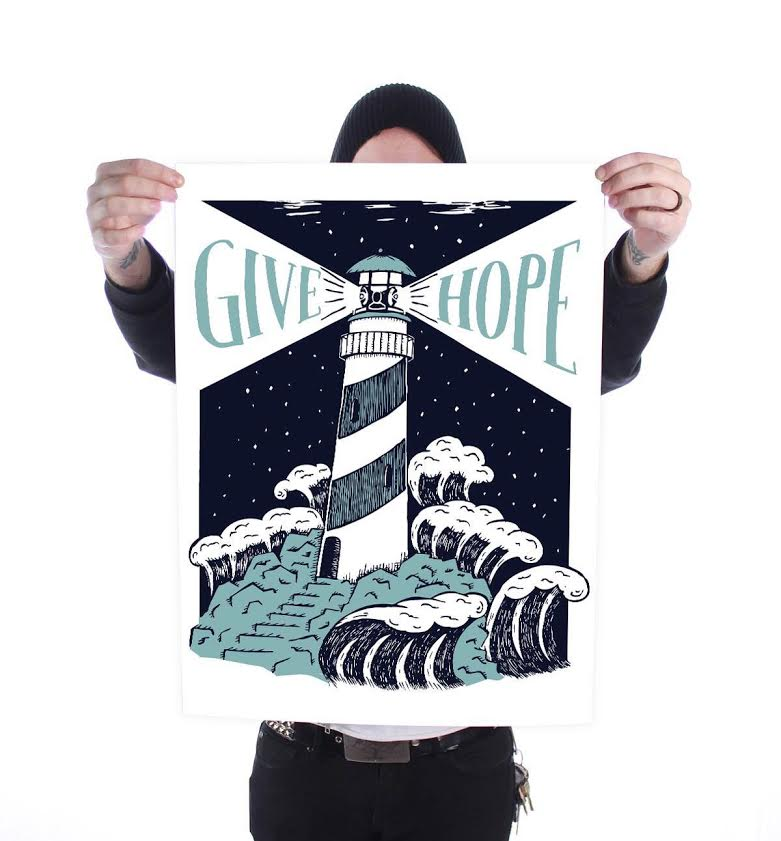 """""""Give Hope"""" Print- $5.55 is donated to that months charity"""