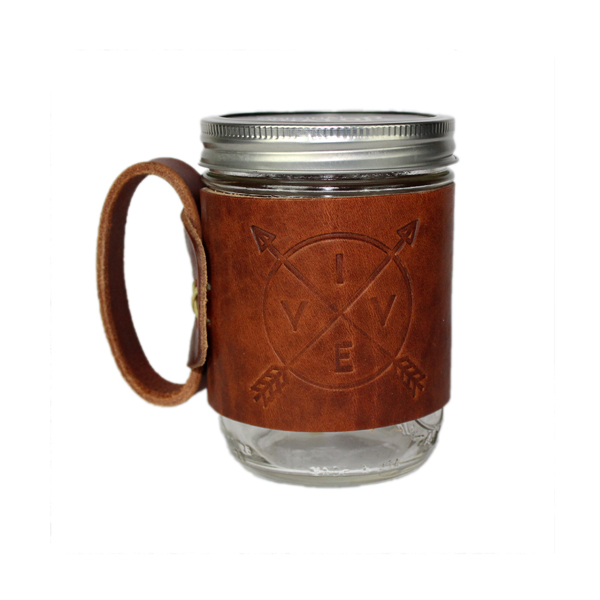 VIVE Aviator Leather Mug - Natural