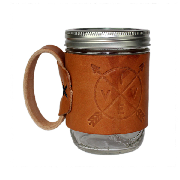 VIVE Aviator Leather Mug - Tan