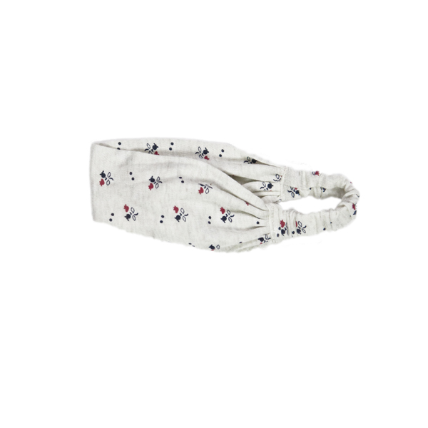 Flower - Headband - Cream/Navy/Red
