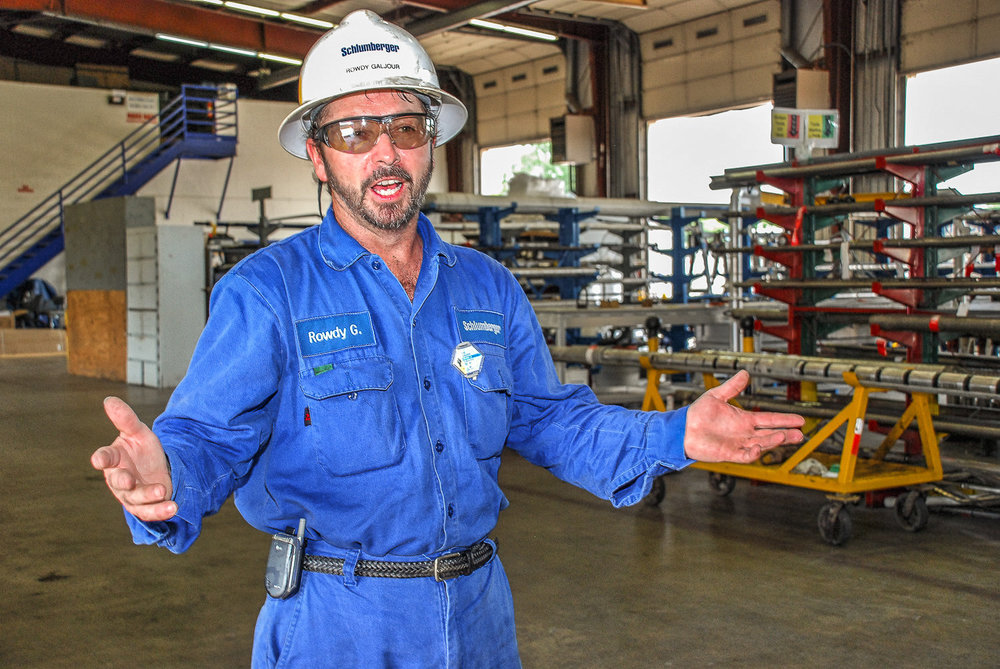 Rowdy Grainger, Warehouse Manager for Slumberger oil services in Oklahoma City, OK