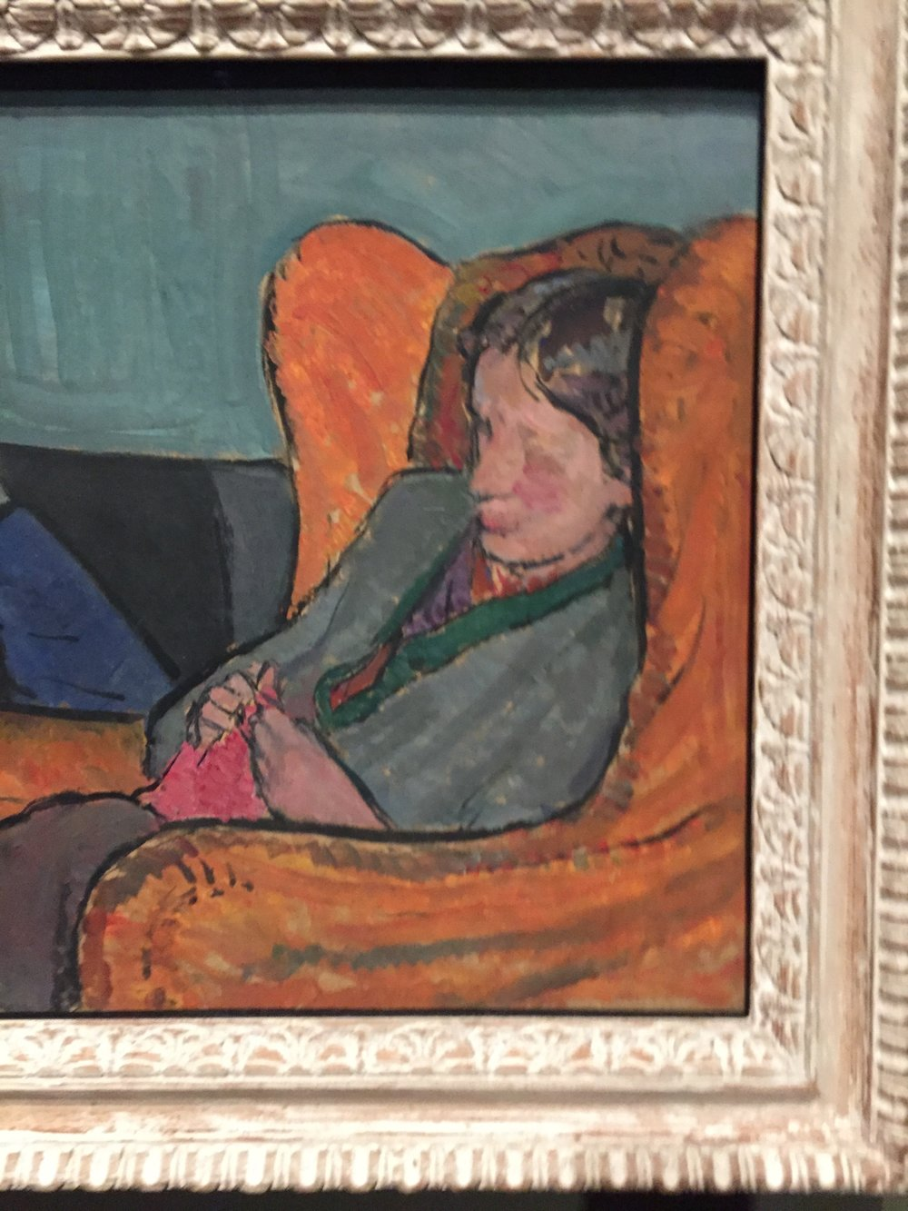 Virginia Woolfe painted by her sister Vanessa Bell
