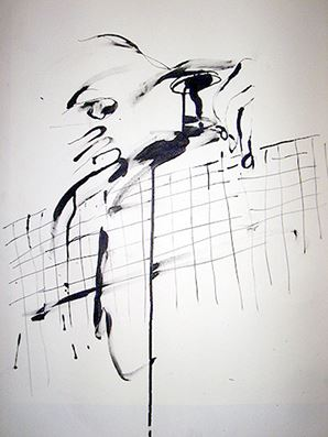 Face #41 . 2006. 39.3 x 54.5 cm. Black ink on paper.