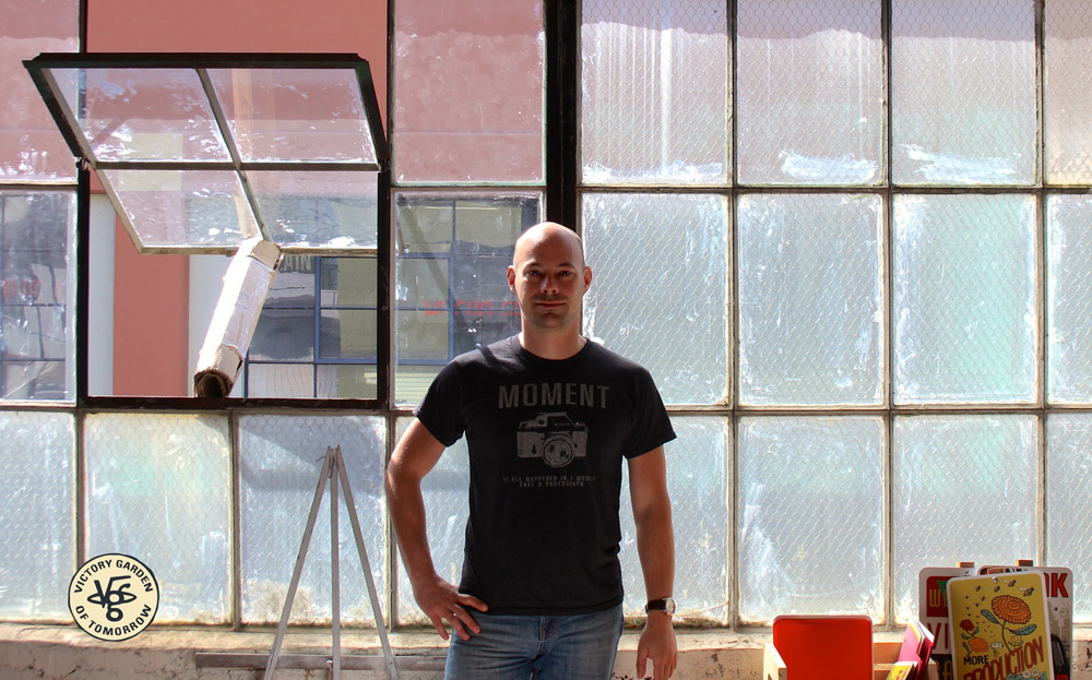 Great light in Joe's working studio on SE Holgate, Portland, Ore.