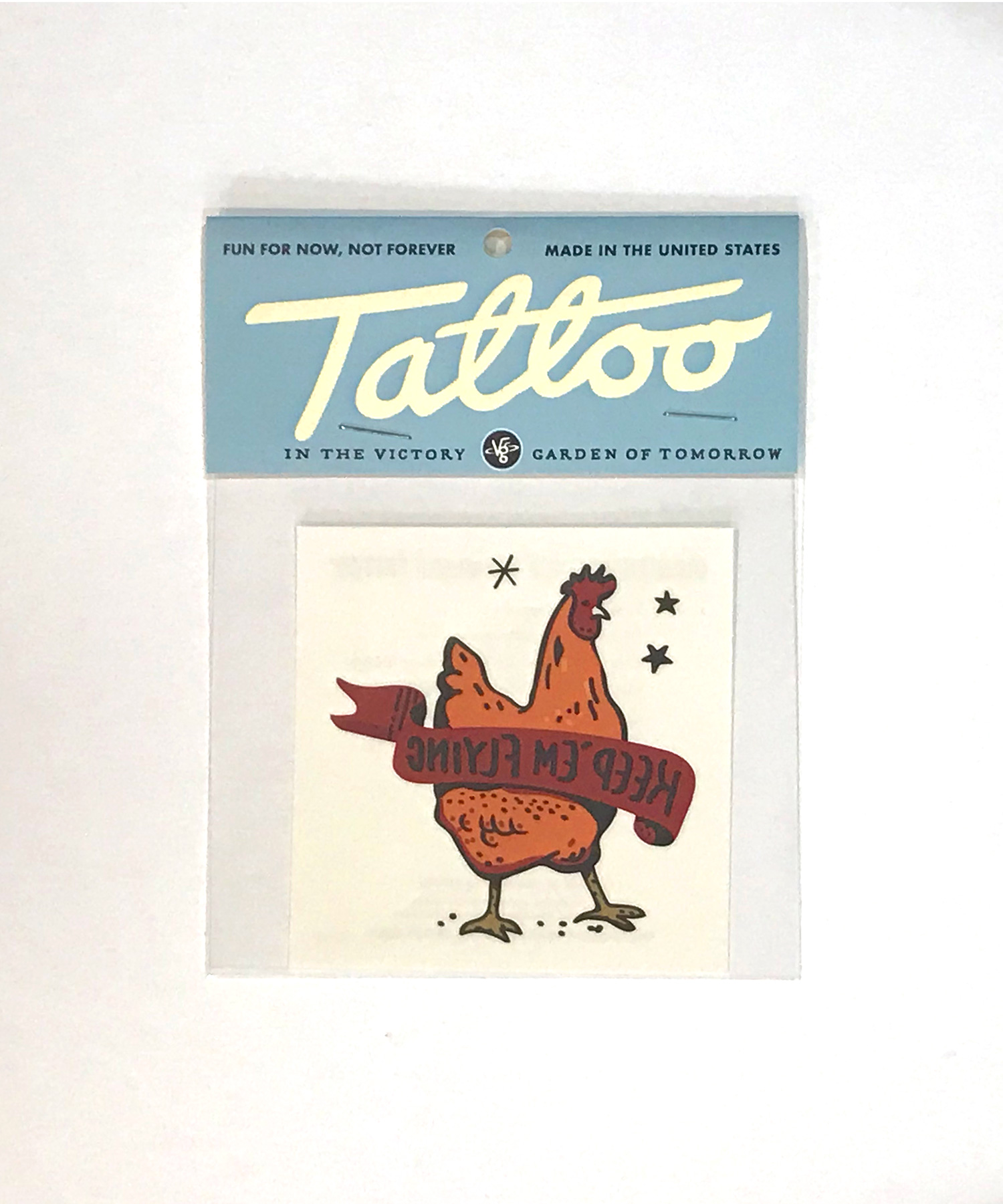 Keep Em Flying Chicken Tattoo The Victory Garden Of Tomorrow
