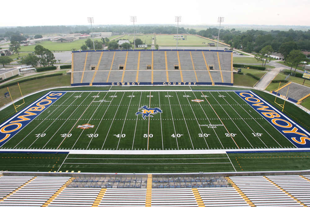The 16,000-seat Cowboy Stadium at McNeese State University