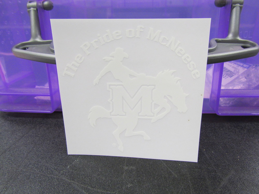 Pride of McNeese Window Decal (static attachment - no adhesive)