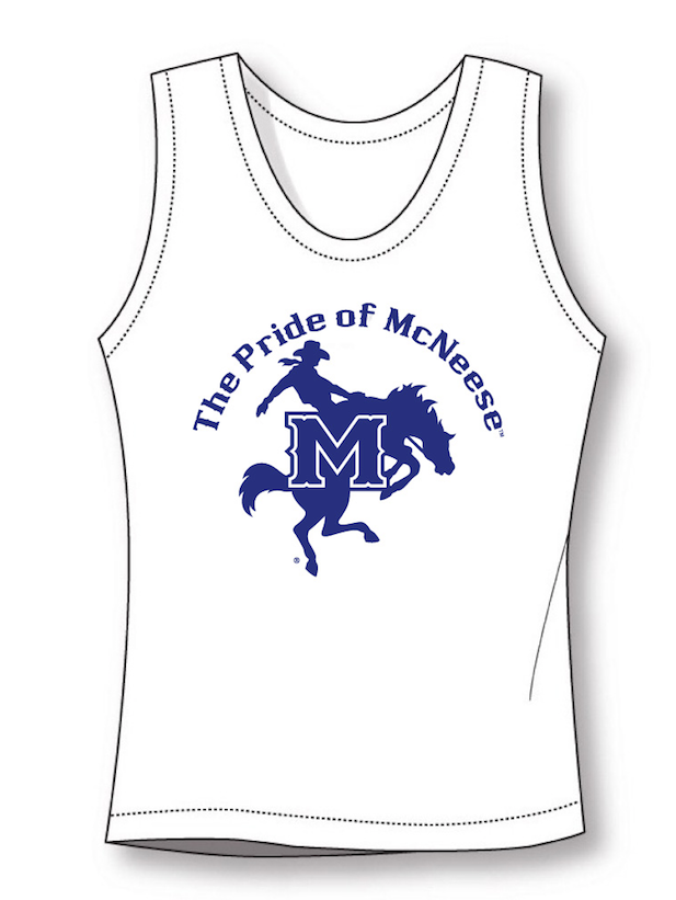 Tank top - wicking material/reversible - image on white side, as shown