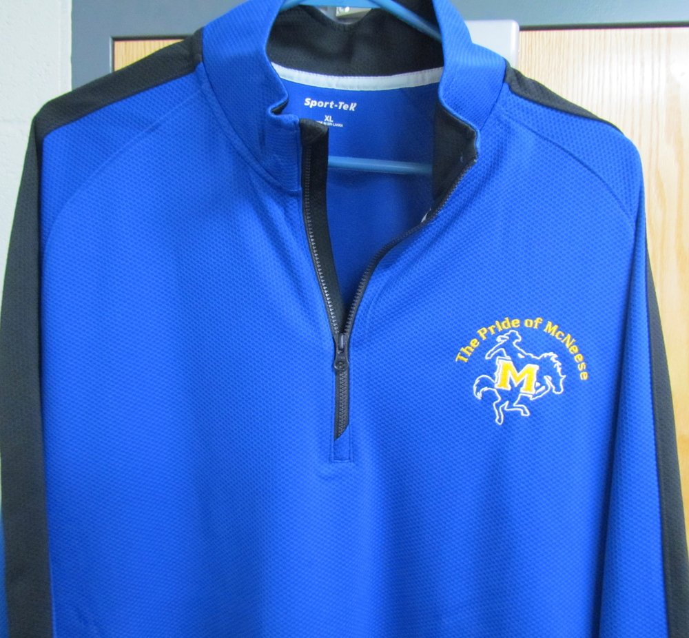 NEW for 2017: 1/4-Zip athletic pullover - $50