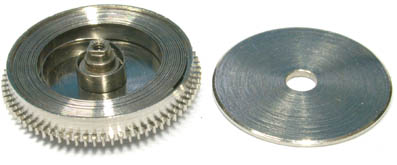 Mainspring wound in barrel. Image by  Horology Zone
