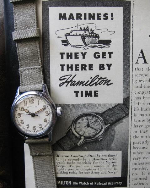 Vintage Hamilton advertisement. Watches were vital in WWII.