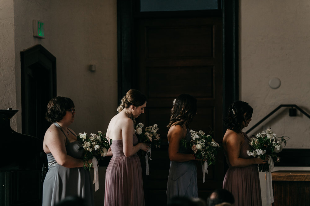 Intimate Portland Oregon wedding photographed by Jess Hunter, stylish air bnb in Portland for bride getting ready, Door of Hope wedding in Portland, Sarah Seven wedding dress, Anthropologie wedding, emotional wedding day moments