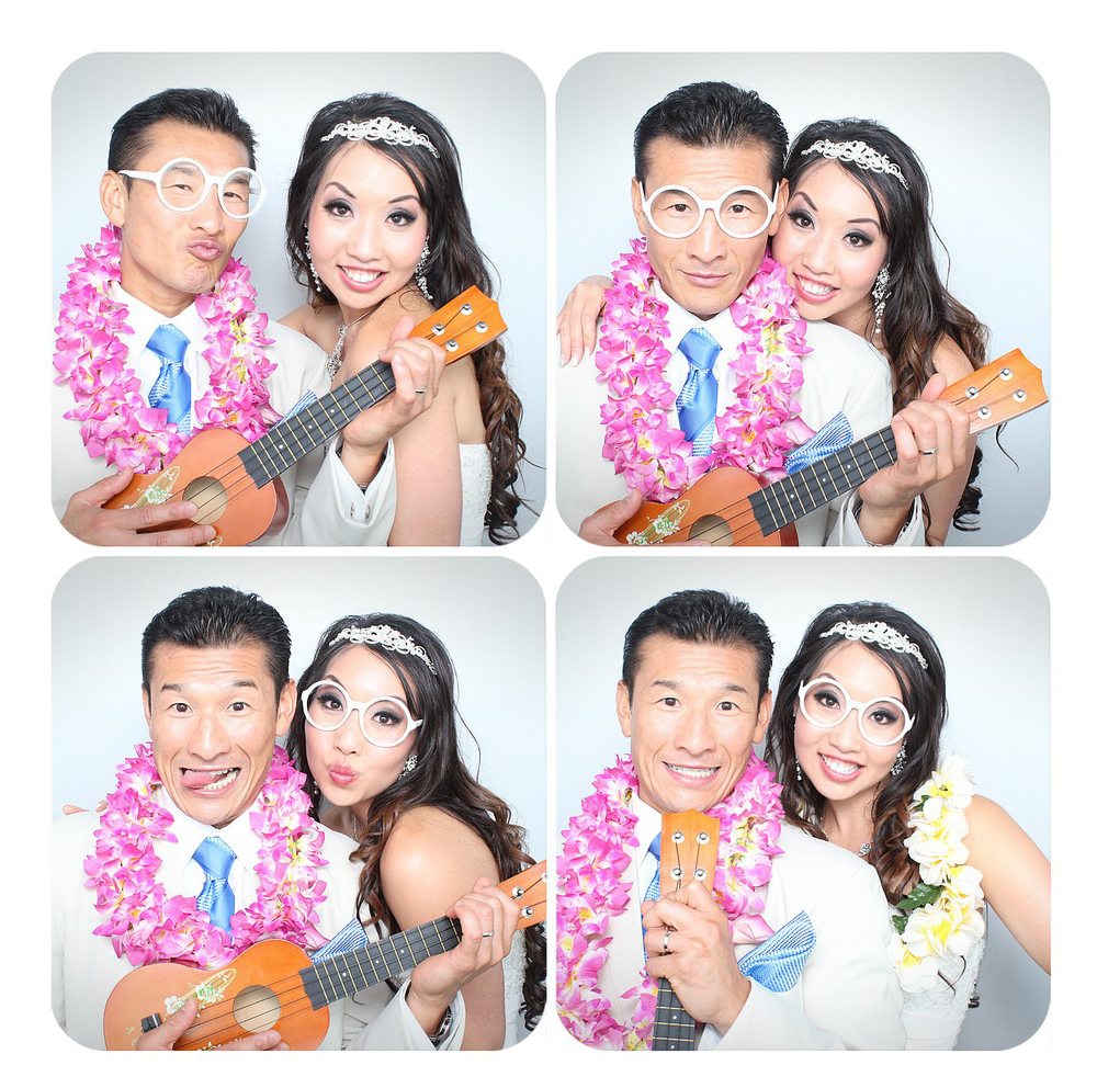 Oahu Wedding Photo Booth Couple