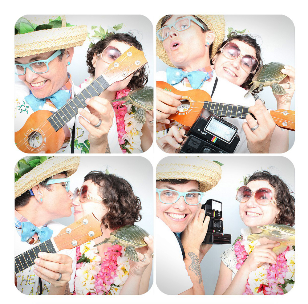Oahu Wedding Photo  Booth