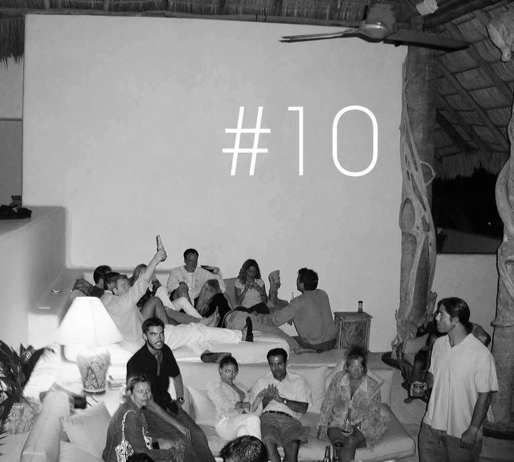 Careyas, Mexico. Post-party with QT. 2002