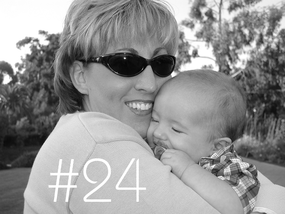 Santa Barbara, CA. Holding baby Jack-o.2002