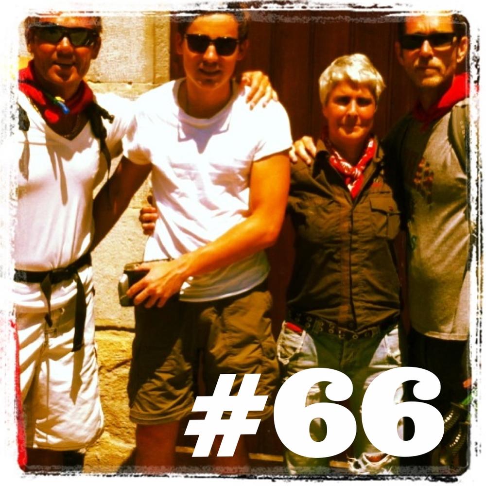 Pamplona, Spain. Mi Camino gang y Maite. 2013