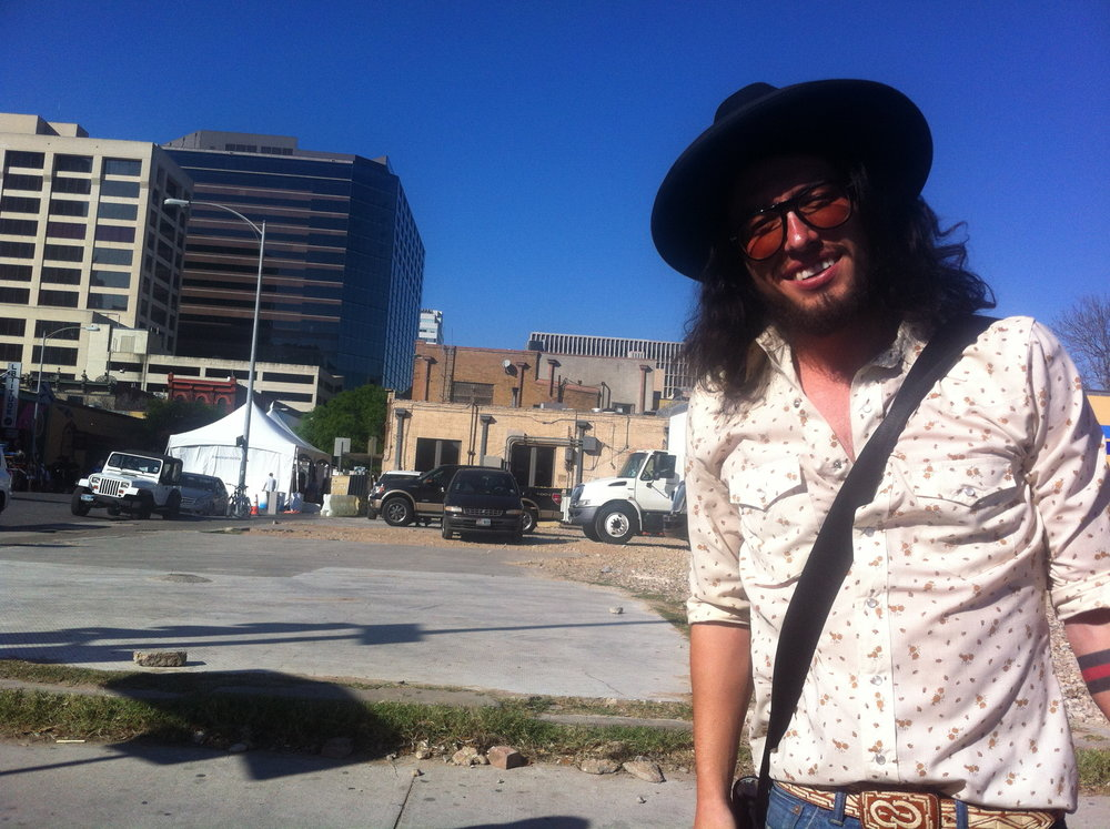 W. 5th St. Austin, TX. Pre-gig. Pre-fame. Just a man and his guitar at SXSW. March 2012
