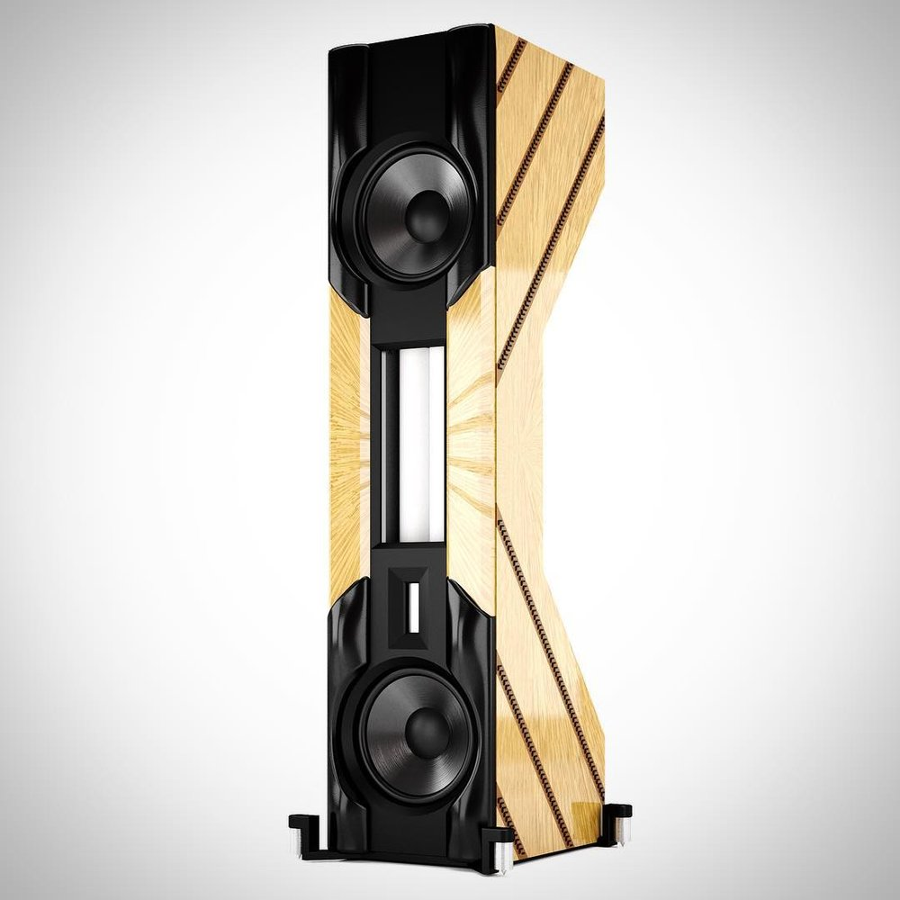 The DIVA XL, in a marquetry finish by Lison de Caunes in Paris.  There is no finer loudspeaker.