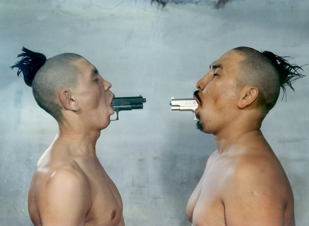 Erbossyn Meldibekov, My Brother, My Enemy, 2001. Colour photograph. Courtesy of the artist. © Erbossyn Meldibekov.