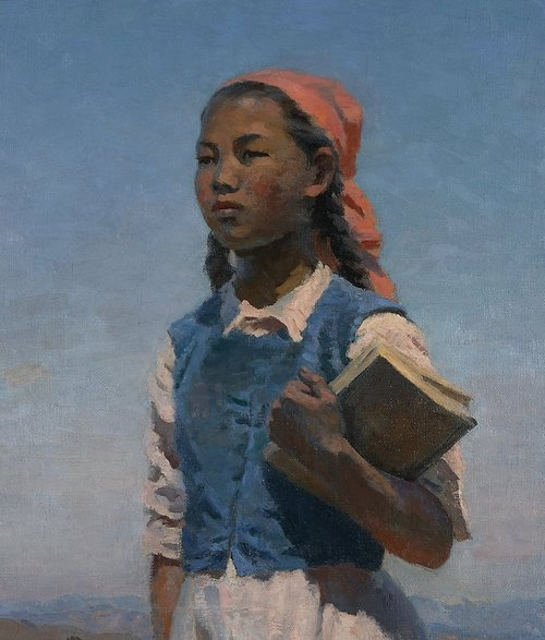Semion Chuikov, A Daughter of Soviet Kyrgyzia, 1948. Oil on canvas, State Tretyakov Gallery, Moscow.