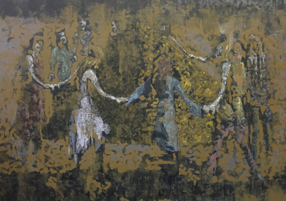 Ed Saye, Mellow Yellow Golden Age, 2016, oil on canvas, 120x170cm