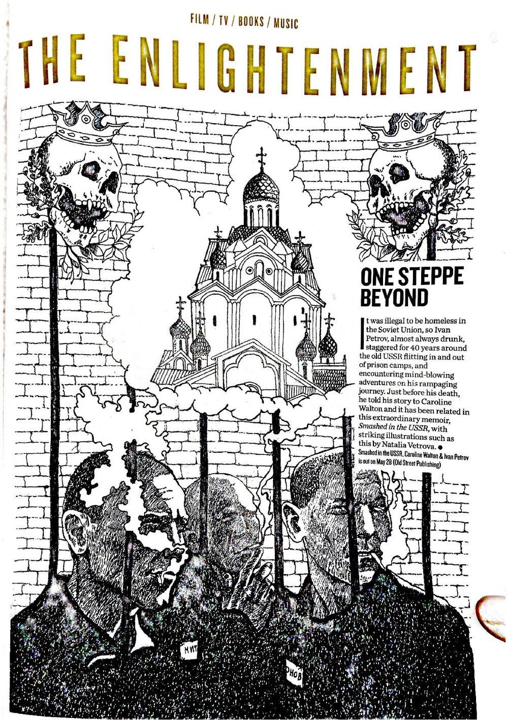 Review of Smashed in the USSR in the Big Issue. The illustration, by Natalia Vetrova, is taken from the book.