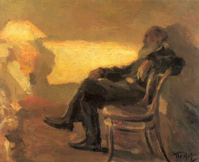 Portrait of Tolstoy at Yasnaya Polyana, by Leonid Pasternak.