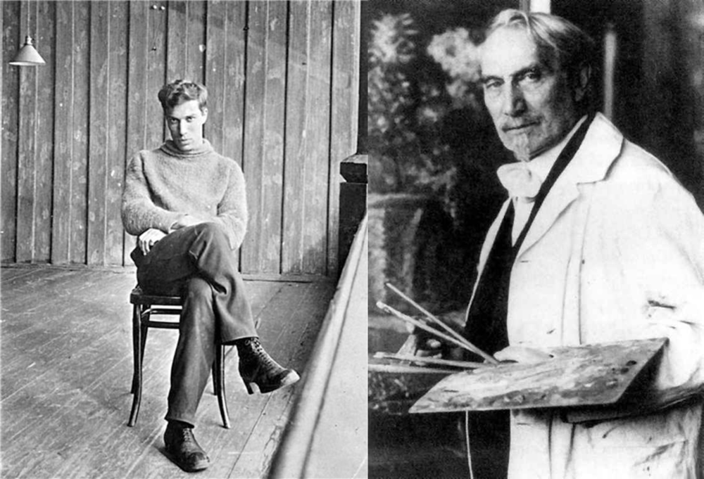 Boris Pasternak (left) and Leonid Pasternak (right).